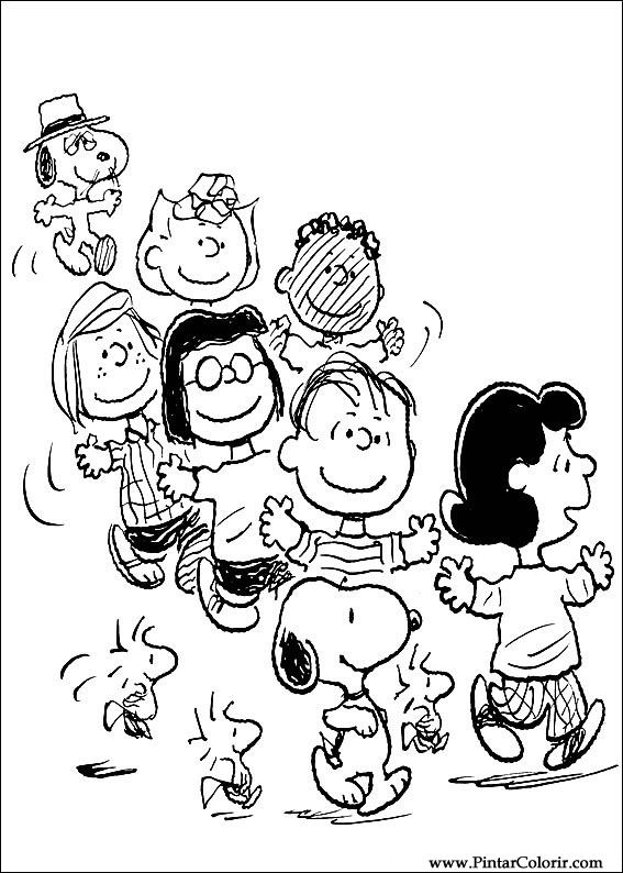 peanuts comics coloring pages - photo#10