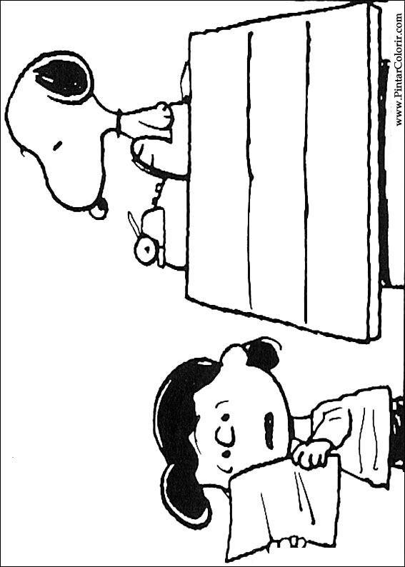 Zeichnungen Zu Malen Und Farbe Snoopy Print Design 027