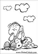 Pintar e Colorir Snoopy - Desenho 013
