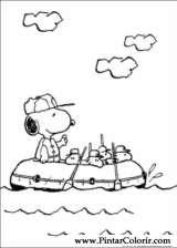 Pintar e Colorir Snoopy - Desenho 017
