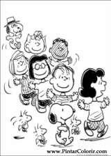 Pintar e Colorir Snoopy - Desenho 022