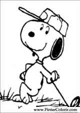 Pintar e Colorir Snoopy - Desenho 024