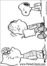 Pintar e Colorir Snoopy - Desenho 031