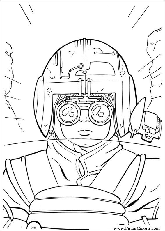 Desenhos Para Pintar E Colorir Star Wars Imprimir