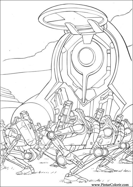 rogue one coloring pages - tekeningen te schilderen colour star wars print design 053