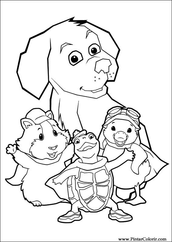 paint colour wonder pets drawing 002 - Drawing To Colour