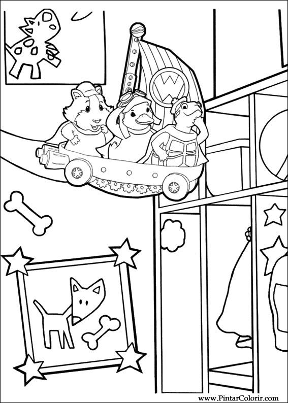 wonder pets christmas coloring pages - photo#17