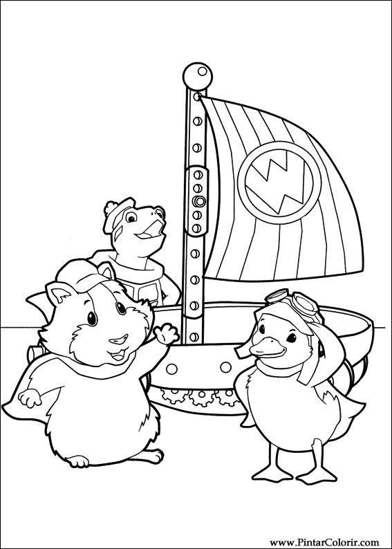 Drawings To Paint amp Colour Wonder Pets Print Design 030
