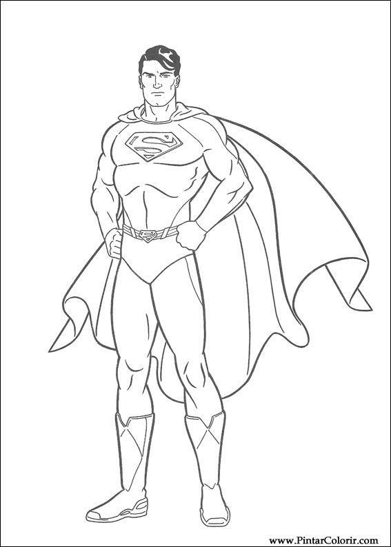 Drawings To Paint Amp Colour Superman Print Design 002