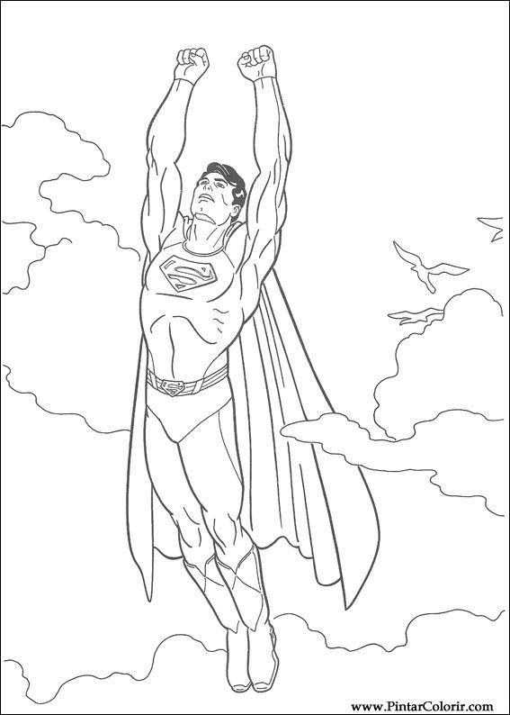 Izimler Boya Renk Superman Bask Tasar