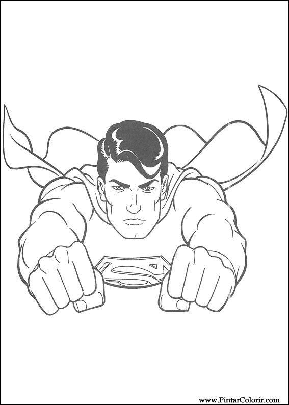 Zeichnungen Zu Malen Und Farbe Superman Print Design 019