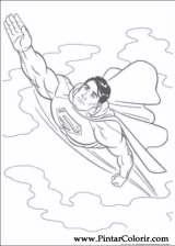 paint colour superman drawing 001 - Superman Pictures To Colour