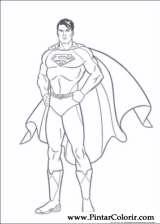 Pintar e Colorir Super Homem - Desenho 002