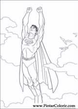 Pintar e Colorir Super Homem - Desenho 003