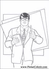 Pintar e Colorir Super Homem - Desenho 005