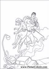 Pintar e Colorir Super Homem - Desenho 008