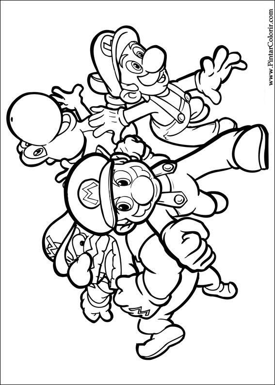 Farbe gt Zeichnungen Und Gemlde Coloring Super Mario Bros