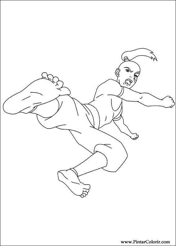 tekeningen te schilderen  kleur avatar  print design 025