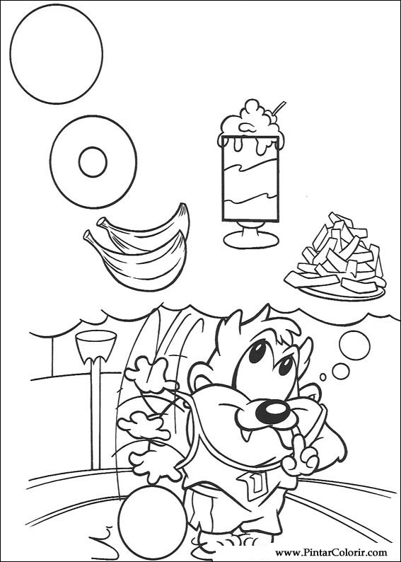 drawings to paint colour baby looney tunes print design 044