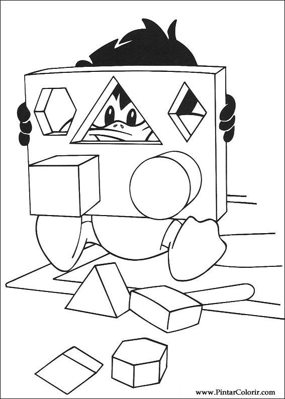 Dibujos para pintar y Color Baby Looney Tunes - Diseño de impresión 077