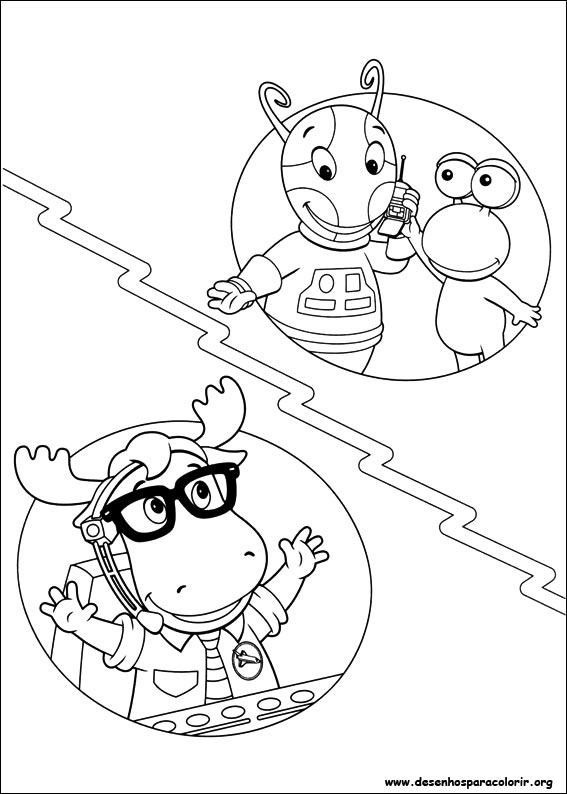 Dibujos para pintar & Colour Backyardigans - Diseño de impresión 040