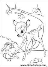 Pintar e Colorir Bambi 2 - Desenho 003