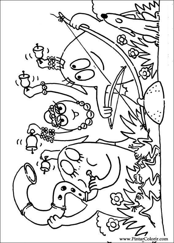 disegni per dipingere  colour barbapapa  stampare