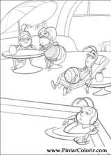 Pintar e Colorir Bee Movie - Desenho 029