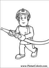 Pintar e Colorir Bombeiro Sam - Desenho 004