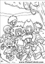 Pintar e Colorir Digimon - Desenho 004