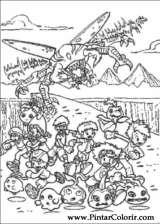 Pintar e Colorir Digimon - Desenho 012