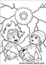 Pintar e Colorir Digimon - Desenho 015
