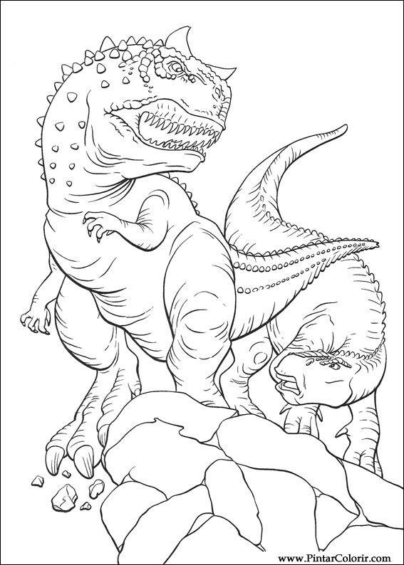 pintar colorir dinossauro 026