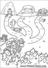Pintar e Colorir Dora A Aventureira - Desenho 001