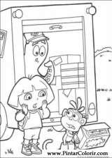 Pintar e Colorir Dora A Aventureira - Desenho 005