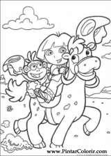 Pintar e Colorir Dora A Aventureira - Desenho 008