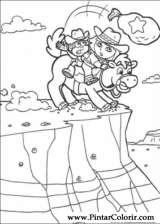 Pintar e Colorir Dora A Aventureira - Desenho 019