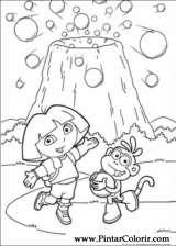 Pintar e Colorir Dora A Aventureira - Desenho 124