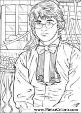 Pintar e Colorir Harry Potter - Desenho 045