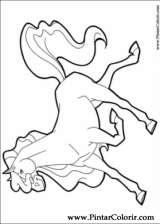 Pintar e Colorir Horseland - Desenho 009