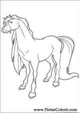 Pintar e Colorir Horseland - Desenho 012