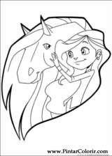 Pintar e Colorir Horseland - Desenho 017