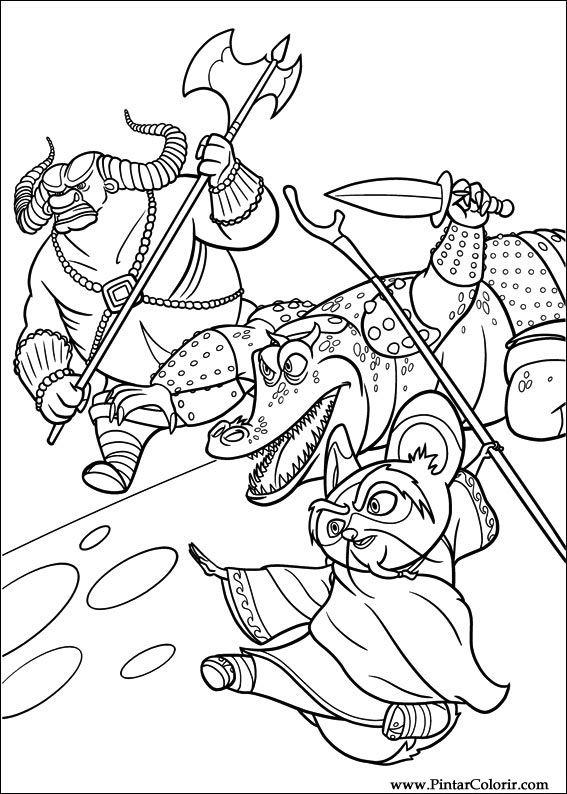 Pintar e Colorir Kung Fu Panda 2 - Desenho 006