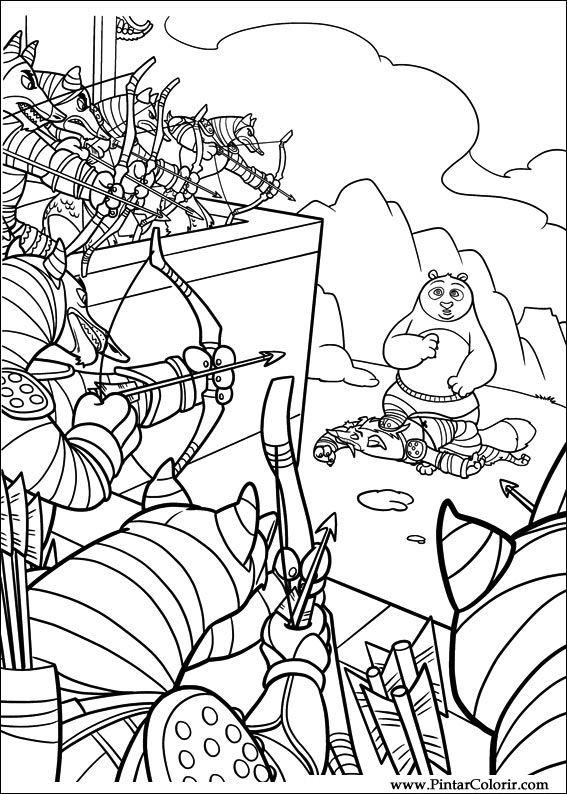 desenhos para pintar e colorir kung fu panda 2  imprimir