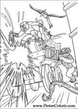 Pintar e Colorir Kung Fu Panda 2 - Desenho 020