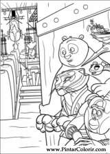 Pintar e Colorir Kung Fu Panda 2 - Desenho 029