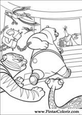 Pintar e Colorir Kung Fu Panda 2 - Desenho 030