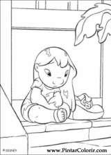 Pintar e Colorir Lilo E Stitch - Desenho 005