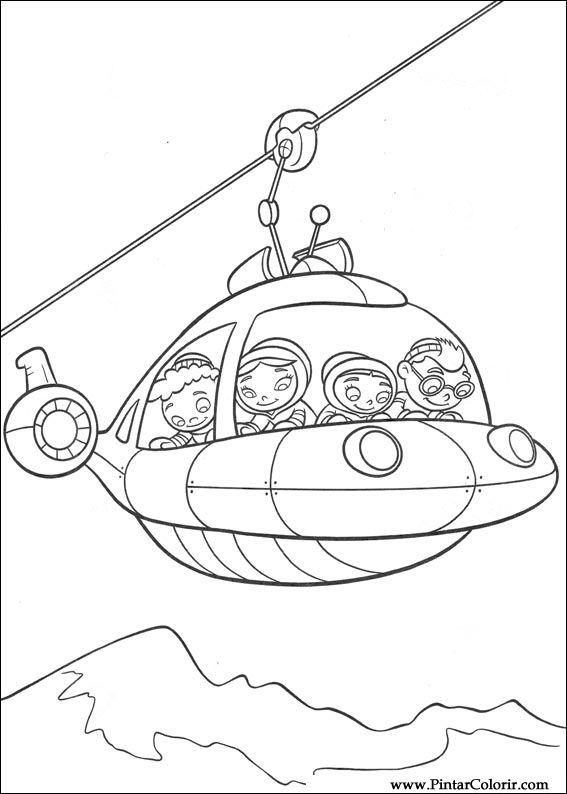 Dibujos para pintar y Color Little Einsteins - Diseño de impresión 011