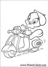 Pintar e Colorir Looney Tunes - Desenho 001